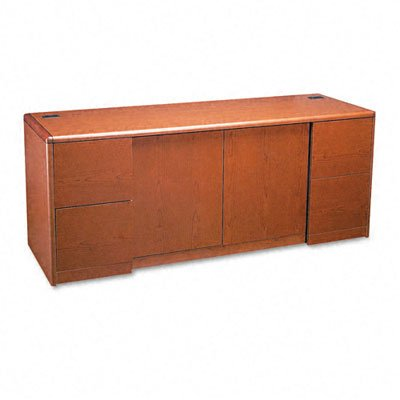 Cherry Waterfall Finish 10700 Henna - HON HON10742JJ Credenza with Doors, 72