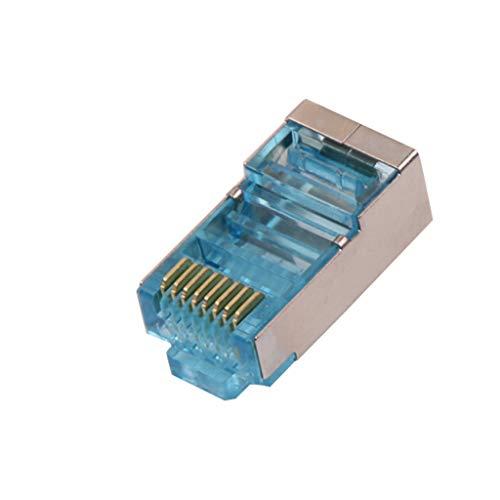 raillery 100 Pcs CAT6 RJ45 Pass Through Network Cable Modular Plug Connector Open End ()