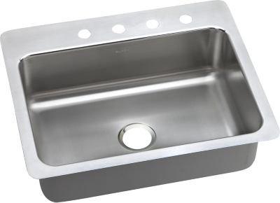 ELKAY MANUFACTURING COMPANY 27X22X8 1 Bowl Universal Stainless Steel Sink Gourmet ELSR27223 by Elkay by Elkay