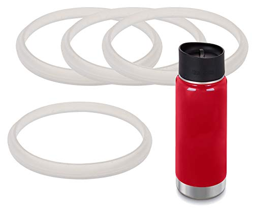 Impresa Products 4-Pack of Klean Kanteen (TM)-Compatible Café Cap and Wide Cap Gaskets/O-Rings/Seals BPA-/Phthalate-/Latex-Free - Maintenance Kit ()
