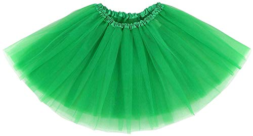 Les Parties Couches Ruiuzi Adulte Halloween Femmes Pour Tutu Jupe Classique Tulle Danse Teen Élastique Vert Costumes 4 Foncé 0wnkOP8X