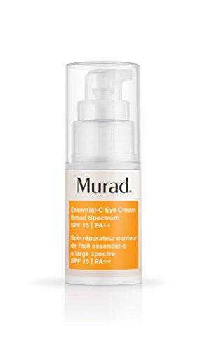 Murad Environmental Shield Essential-C Eye Cream Broad Spectrum SPF 15 - Anti-Aging Eye Cream with Retinol - Hydrating Eye Cream Protects and Smooths, 0.5 Fl Oz