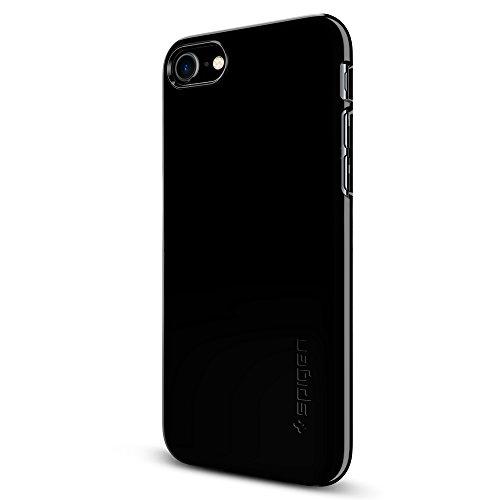 iPhone 7 Hülle, Spigen® [Thin Fit] Passgenaues [Diamant Schwarz] Premium Hart-PC Schale / Schlanke Handyhülle / Schutzhülle für iPhone 7 Case, iPhone 7 Cover - Jet Black (042CS20845)