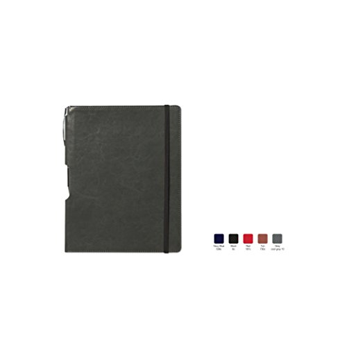 (RHYTHM Ruled, Hardcover Executive Notebook Journal with Premium Paper, 192 Lined Pages, Bookmark ribbon, Gusseted back pocket, Gray Cover, Size 7