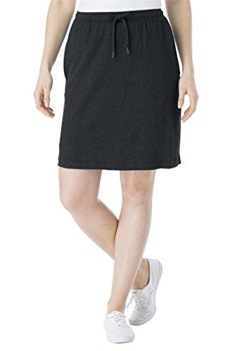 Women's Plus Size Skort In Soft Sport Knit With Custom-Fi...