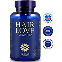 Biotin Gummies, Hair Growth Vitamins for Faster Hair Growth, Vitamin Gummies with Biotin 5000mcg, Nail Vitamins, Thickening Hair Vitamins, Thinning Hair Beard Regrowth, for Women and Men, 60 Gummies