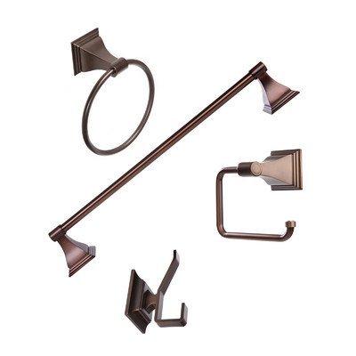 (Arista Bath Products Leonard Series 4-Piece Bathroom Accessory Set, Oil Rubbed Bronze by Arista Bath Products)
