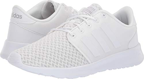 adidas Women's Cloudfoam QT Racer, White/Grey, 9 M US