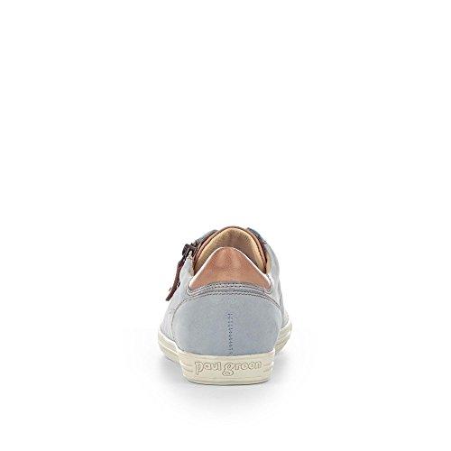 Paul Green 4128-372 Damen Sneaker Aus Nubukleder Lederfutter und -Innensohle Hellblau
