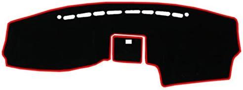 DANDELG 車のダッシュボードカバーマットカーペットアクセサリー、現代サンタフェ2007 2008 2009 2010 2011 2012に適合