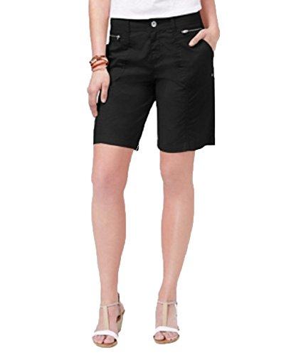 -Pocket Shorts (Deep Black, 16) (Style Black Short)
