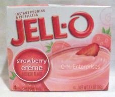 Jell-O Instant Strawberry Creme Pudding, 3.4 oz (Pack of 6)