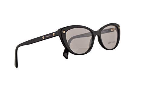 Versace VE3258 Eyeglasses 53-16-140 Black w/Demo Clear Lens GB1 VE ()