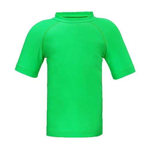 - Boys' Short Sleeve Swim Shirt Athletic Surf Tops UPF 50+ Protective Rashguard Green 10