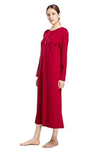60f600d93b Jual lantisan Cotton Knit Long Sleeve Nightgown for Women