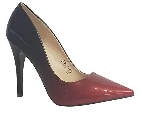 Rouge pour Escarpins df Sky Femme Noir Walker wtESWw1qxX