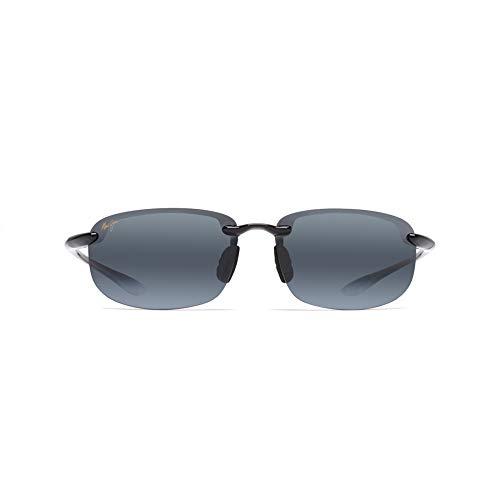 Hookipa Reader Sunglasses - Maui Jim Ho'okipa Reader (Universal Fit) G807N-0225 | Polarized Gloss Black Rimless Frame Sunglasses, Neutral Grey, with with Patented PolarizedPlus2 Lens Technology 2.5