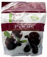 Made in Nature Organic Prunes, 6-ounce Bags (Case of 12) by Made In Nature
