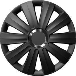 J-Tec 4 x zentimex – Tapacubos negro 15 pulgadas Viper Black