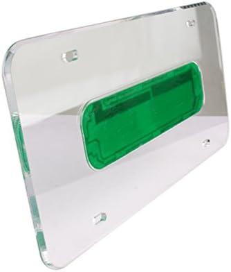 MINGLI ユニバーサルカーLEDライト アクリルライセンスプレートフレームホルダー オートライトエッジライト LEDライトプレートナンバーランプシェルフレーム 12V 26 LED ML-ALPF-B