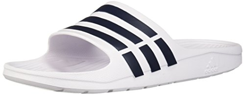 Duramo white Mixte Adulte Adidas Slide White collegiate Navy O8T8gSWz