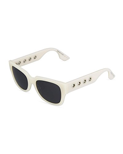 McQ - MQ0019S, Cat Eye, acetate, women, IVORY/GREY(004 K), - Sunglasses Mcqueen Women Alexander