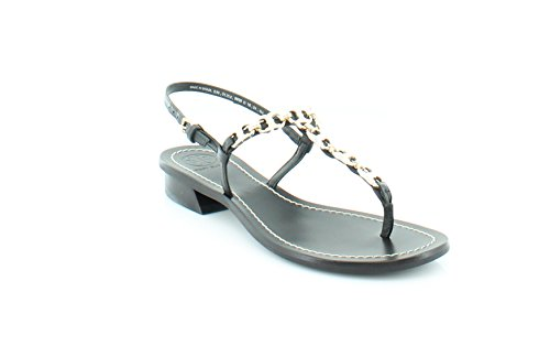 Tory Burch Gemini Link T Strap Women's Sandals & Flip Flops Black Size 6 M
