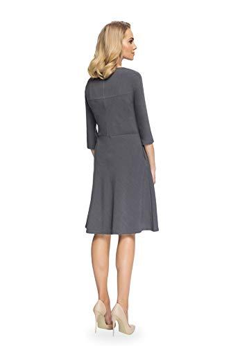 Grau Trapezkleid Elegantes Linien Kleid Clea A BYFwq