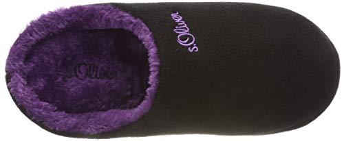 Chaussons Comb Mules black S Femme 5 98 27101 Noir 5 oliver FzxxwqBgUI