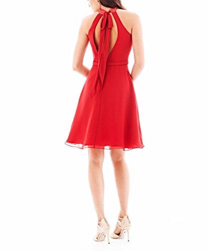 BRIDE Baender Rot GEORGE Sexy Party kurzes Abendkleid Kleid bestickte zFdTwx