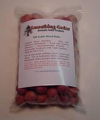 100 Aromatic Cedar Wood Moth Balls