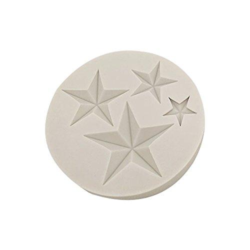 Tonpot Molde de Silicona Fondant para Pasteles 4/Herramientas de Horno para Molde para Tartas Estrella de Cinco Ramas Tuercas