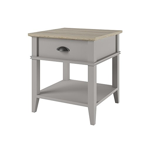 Altra Newport Accent Table with Drawer, Sharkey Gray/Laguna Oak (Pottery Barn Chairs Living Room)