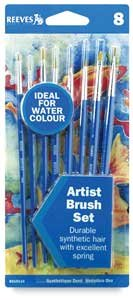 Reeves Golden Nylon 8 Artist Brush Set for Watercolour