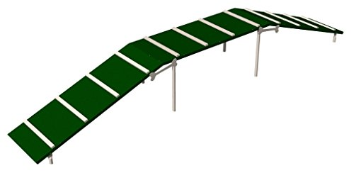 BarkPark Dog Walk Three Non-Slip Planks, Green/Beige