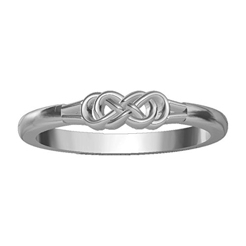 Infinity Ring Couple in 14K White Gold size 12.5 by Sziro Infinity Rings (Image #1)