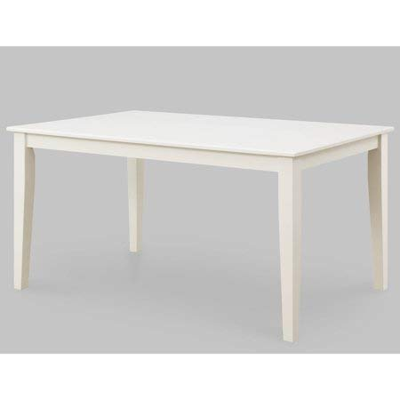 Better Homes and Gardens Bankston Rectangle 6-Person Dining Table, 58.5'' L x 35.5'' W x 30'' H (White) by Better Homes & Gardens* (Image #1)