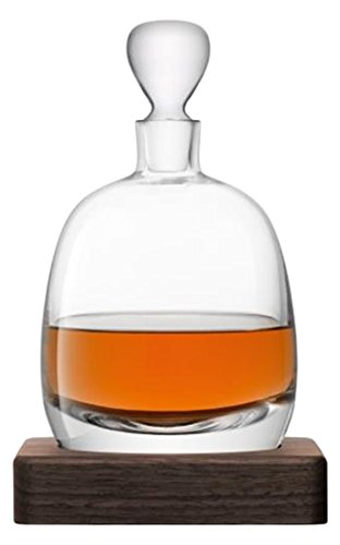 LSA International Whisky Islay Decanter, 33.8 fl. oz., Clear/Walnut by LSA International