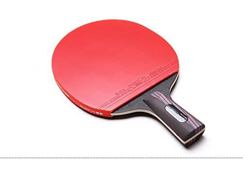 ZJH Murciélago de Tenis de Mesa de Fibra de Carbono, Paleta de Ping Pong Integral por ZJH
