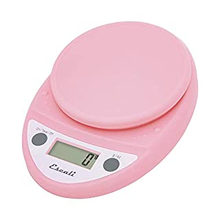 Escali Primo P115SP Precision Kitchen Food Scale for Baking and Cooking, Lightweight and Durable Design, LCD Digital Display, Lifetime ltd. Warranty, Soft Pink