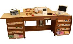 Arrow Cabinet 98700 Bertha Sewing Cabinet, Oak