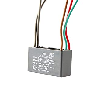 1X CAPACITOR CEILING FAN CAPACITOR 3.5uf+4uf+2.5uf 5 WIRE 250V 300V AC From US