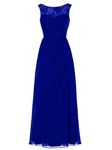 Applikation Lang Abendkleider Damen Ballkleider Spitze Blue Bainjinbai Royal Brautjungfernkleider Cocktail 5gwtWq5xp