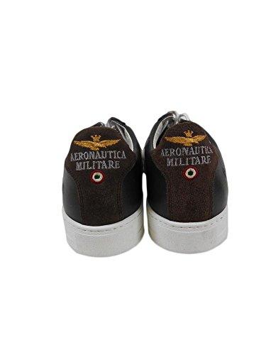 Aeronautica Militare Chaussures Sneakers Cuir Brun Am It N. 42 S1 / 39