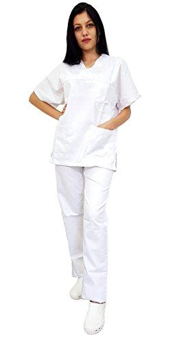 Tecno Hospital Ospedaliera E SanitarioScolastico Bianco Ottico AlberghieroMedicoOperatore UnisexOssEsteticaInfermiereCasacca Divisa PantalonePersonale CtsrQhd