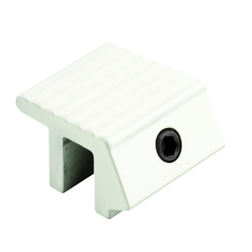 U 9812 Sliding Window Lock, Fits on 1/4 in. Max Fin, Aluminum, White, Tamper Resistant (Pack of 2) (Tamper Resistant Window)