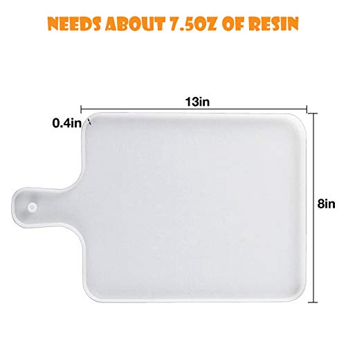 Resin Silicone Molds, Tray Molds for Epoxy Resin, DIY Resin Serving Board, Resin Serving Tray, Great for Home Decoration, Resin Ocean Wave Painting Art