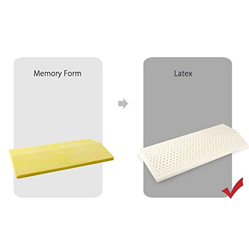 Stunnerwen Pillows for Sleeping Latxe Like Foam Pillow, Contour Pillows Orthopedic Pillows for Neck Support Pain Relief with Washable Breathable Cover (Color : White)