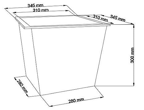 Premium-Pflanzeinsätze aus Kunststoff L34,5X B34,5X H31cm für ...