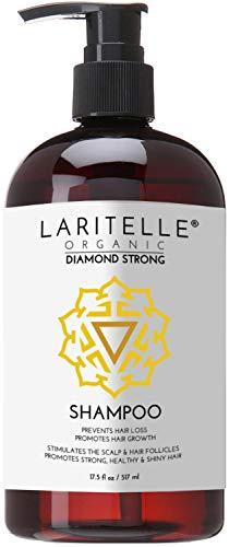 Laritelle Organic Shampoo 17.5 oz. Argan Oil, Ginger, Cedarwood. Promotes Hair Growth, Prevents Hair Loss. GF by Laritelle